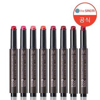 The Saem - Eco Soul KISS Button Lips Matte (8 Colors)