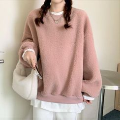 Cebusky - Mock Two Piece Fleece Sweatshirt