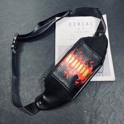 BagBuzz - Flame Print Belt Bag