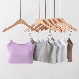 Sundine - Inset Bra-Pad Cropped Camisole Top