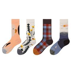 Nyan - 四件套裝: 圖案襪子(多款設計)