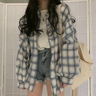 Einshine - Long-Sleeve Plaid Shirt