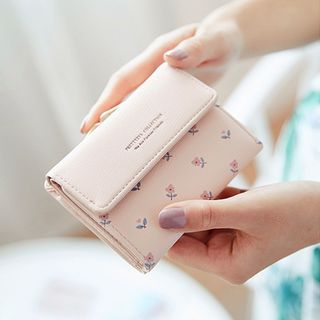 Pieris - Floral Print Faux Leather Wallet