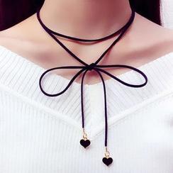 True Glam - 蝴蝶結繩貼脖項鏈