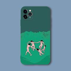 Midnight Lotus - Print Phone Case iPhone 7 / 8 / SE2 / 7Plus / 8Plus / X / XR / Xs Max / 11 / 11Pro Max / 12 / 12mini / 12Pro / 12Pro Max
