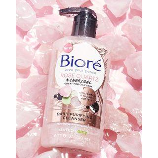 Kao - Biore - Rose Quartz + Charcoal Cleanser Purify Pump