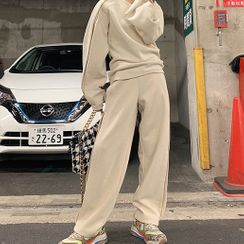 ACSENSE - Plain Pullover / Straight-Cut Pants