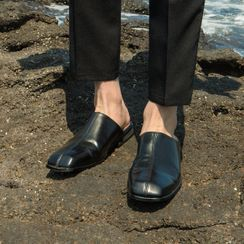 Seoul Homme - Seam-Trim Backless Loafers