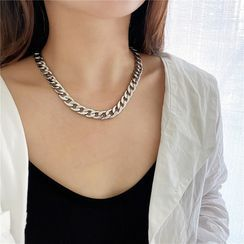 Pialoca - Chunky Chain Stainless Steel Necklace