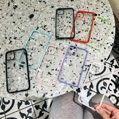 NISI - Transparent Back Phone Case - iPhone 12 / iPhone 11 Pro Max / 11 Pro / 11 / SE / XS Max / XS / XR / X / 8 / 8 Plus / 7 / 7 Plus / 6s / 6s Plus