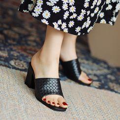 Kireina - Block Heel Slide Sandals