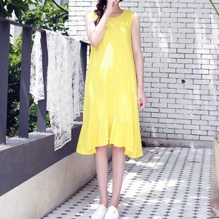 Oscuro - Sleeveless Ruffled Dress