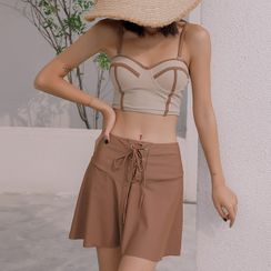 CUCURBIT - 套装: 坦基尼上衣 + 泳裤 + 泳裙