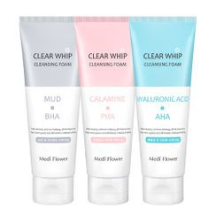 MediFlower - Clear Whip Cleansing Foam - 3 Types