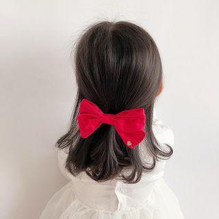 Sweet la Vie - Kids Set of 3: Bow Hair Clip + Faux Pearl Hair Pin