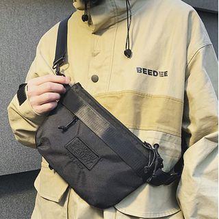 SUNMAN - Lettering Embroidered Lightweight Sling Bag