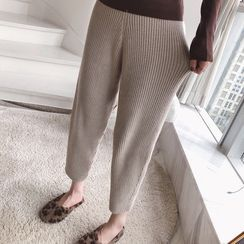 Hearty Bliss - Maternity Knit Cropped Harem Pants