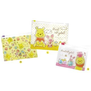 T'S Factory - Set of 3: Fuzzy Pooh Clear Document  Pocket Folder