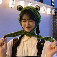 CIMAO - Knit Frog Earmuffs