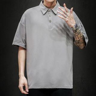 PILLARS - Short-Sleeve Plain Polo Shirt