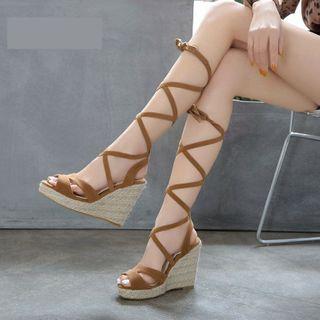 Cinnabelle - Platform Wedge-Heel Gladiator Sandals