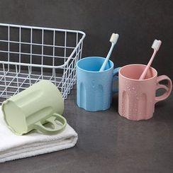 Yulu - 纯色塑胶牙刷杯