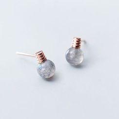 A'ROCH - 925 Sterling Silber Mondstein Glühbirne Ohrring