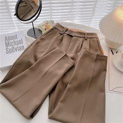 DIYI - Plain High-Waist Harem Pants