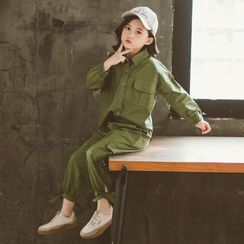 Pegasus - Set: Kids Plain Shirt + Cargo Pants