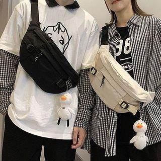 OLGALOG - Plain Zip Sling Bag