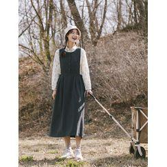 GOROKE - Button-Front Jumper Dress