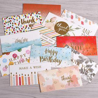DAILYCRAFT - Metallic Printed Greeting Card (various designs)