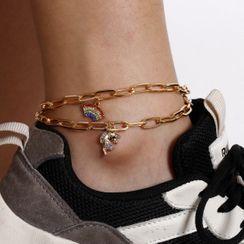 Seirios - 套裝: 彩虹鏈條腳鏈 + 獨角獸鏈條腳鏈