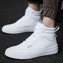 Auxen - High Top Lace-Up Sneakers