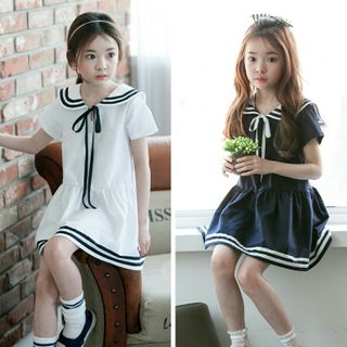 Cuckoo - Kids Short-Sleeve Sailor A-line Dress