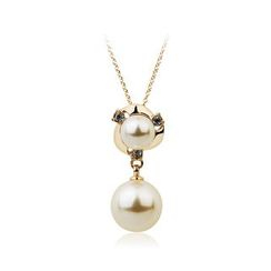 BELEC - Short Pendant with Fashion Pearl and Necklace