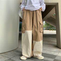 Ztreetus - Two-Tone Cargo Pants