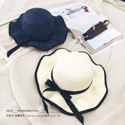 INKLEE - Bow Straw Sun Hat