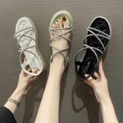 hunigala - 仿皮罗马凉鞋