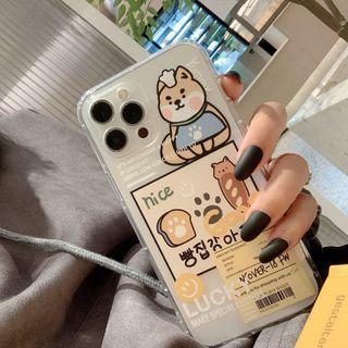 kloudkase - Dog Print Transparent Phone Case - iPhone 12 Pro Max / 12 Pro / 12 / 12 mini / 11 Pro Max / 11 Pro / 11 / SE / XS Max / XS / XR / X / SE 2 / 8 / 8 Plus / 7 / 7 Plus