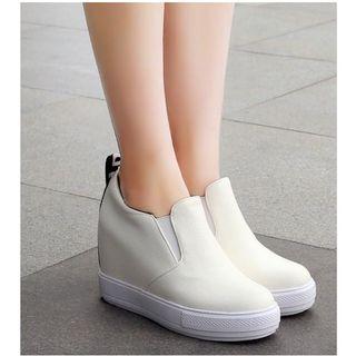 Freesia - 仿皮內增高輕便鞋