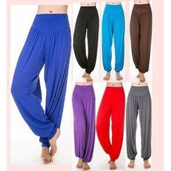 AUM - Plain Yoga Harem Pants