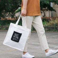 Ms Bean - Lettering Pocketed Canvas Tote