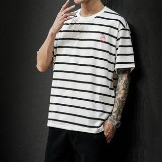 Obikan - Striped Short-Sleeve T-Shirt