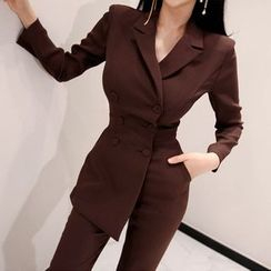Dimanche - Double-Breasted Long-Sleeve Jumpsuit