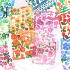 OH.LEELY - Floral Print PET Sticker