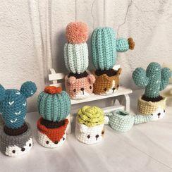 Crockett - Cactus Knit Crochet DIY Kit