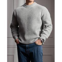 STYLEMAN - Wool Blend Rib-Knit Sweater