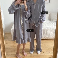 Gecko - Couple Matching Pajama Top / Pants / Dress / Set