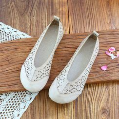Daminsky - Round-Toe Perforated Flats